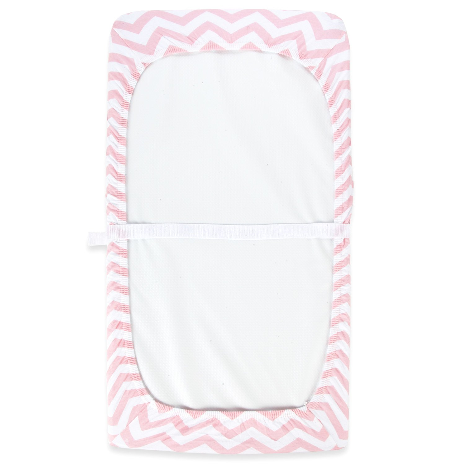 Cuddly Cubs Diaper Changing Table Pad Cover Set For Baby Girl | Soft & Breathable 100% Jersey Cotton | Adorable Unisex Patterns & Fitted Elastic Design | Cute Nursery & Cradle Bedding Sheets 2-Pack by Cuddly Cubs (Image #4)