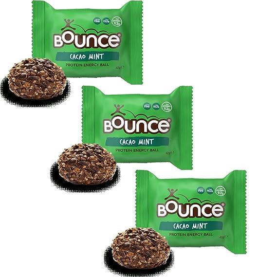 Bounce Bombones de Cacao & Menta de Energía Sin Gluten 42g Pack ...
