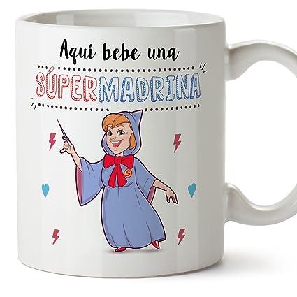 Mugffins Tazas para Padrino - AQUÍ Bebe UN Super Padrino - Taza Desayuno 350 ML Idea Regalo para Padrinos: Amazon.es: Hogar