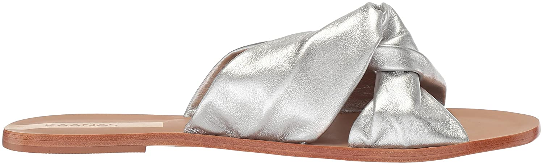 KAANAS Women's Belem Knot Flat Fashion Slide Sandal B076FLW2YK 10 B(M) US|Silver