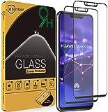 Jasinber 2-Pack Mica Vidrio Cristal Templado Protector de Pantalla para Huawei Mate 20 Lite (Negro)