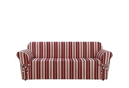 Amazon Com Surefit Stripe Sofa Slipcover Multicolored Kitchen