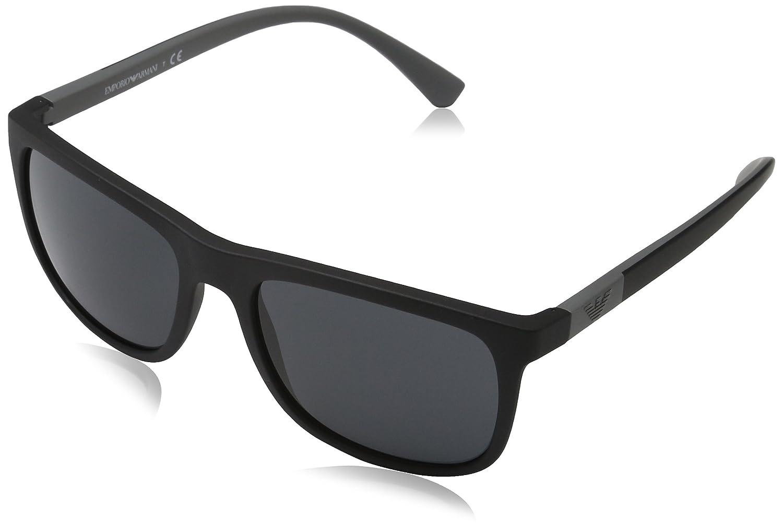 33e3d8da0bcd Amazon.com  Emporio Armani EA4079 504287 Matte Black EA4079 Square  Sunglasses Lens Category  Emporio Armani  Clothing