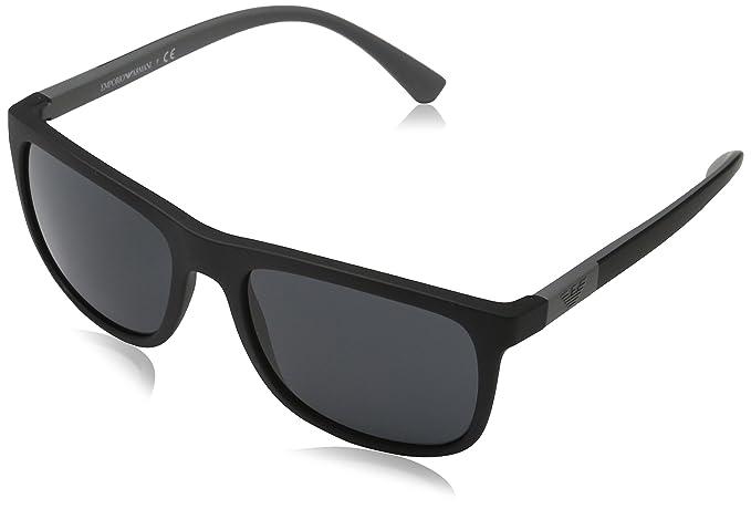 Emporio Armani 0EA4079 Gafas de sol, Matte Black, 57 para ...