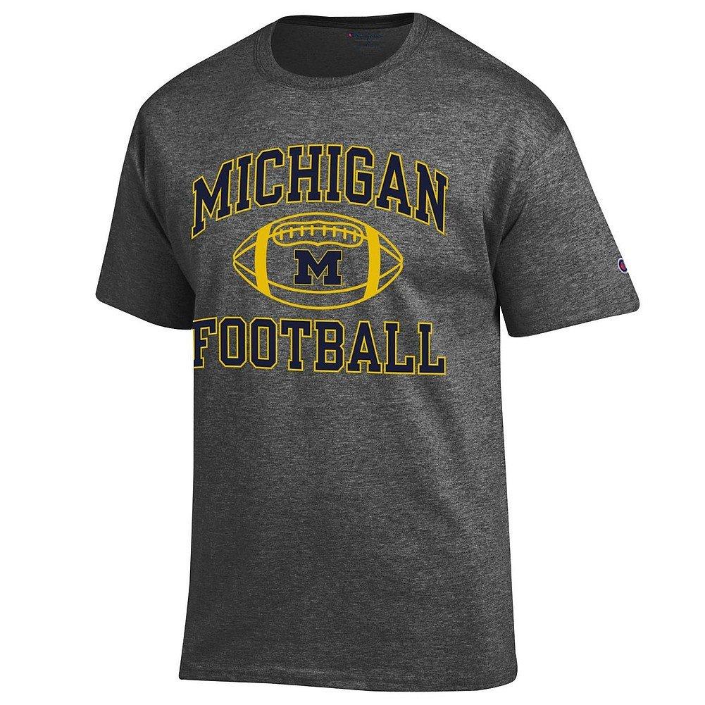Michigan Wolverines Football Tshirt Charcoal 9901