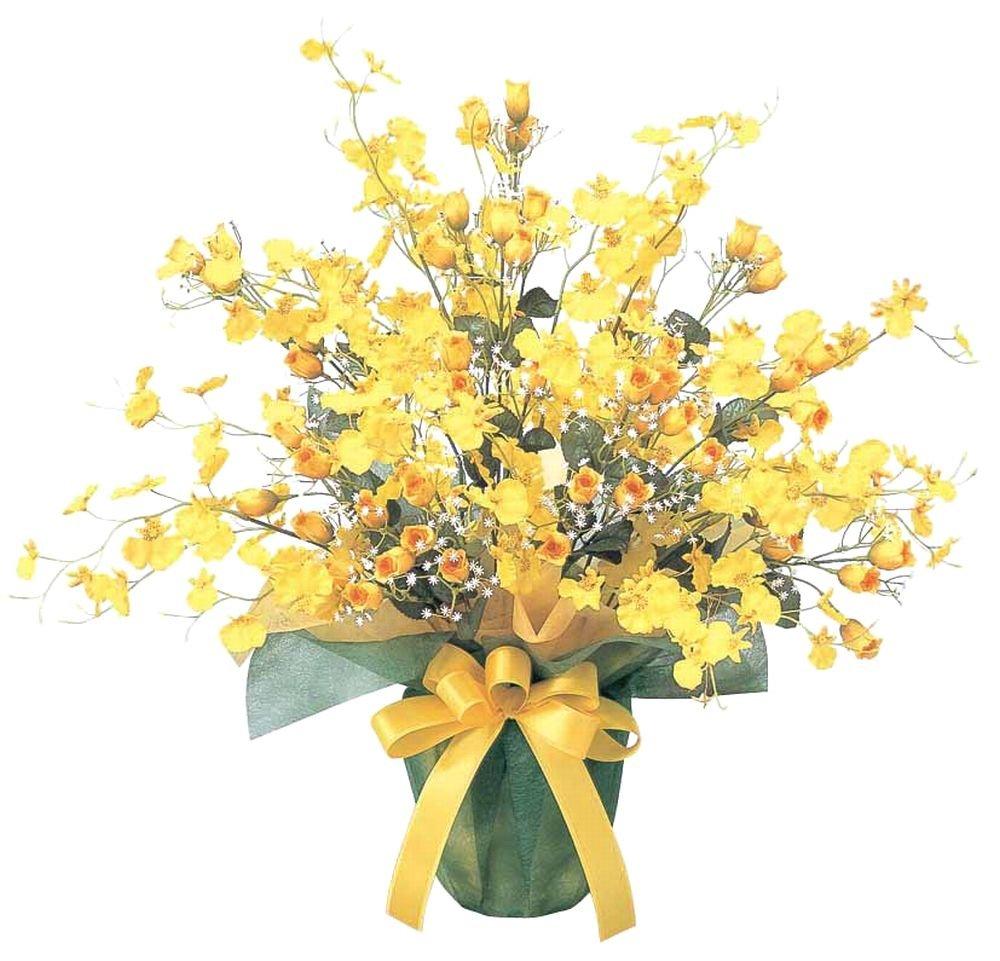 FLOWER-m/アートフラワー 光触媒 造花 アレンジ ゴールドストライク 43A7063 B00LKE3W78