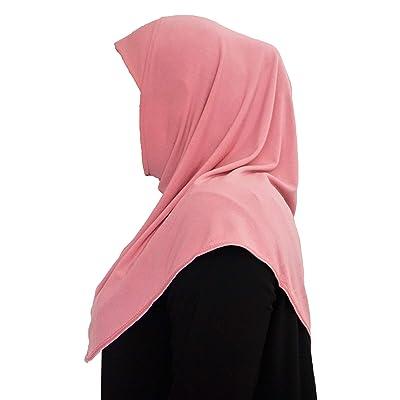 Hijab Amira de una pieza Rosa rosa Talla única: Ropa y accesorios