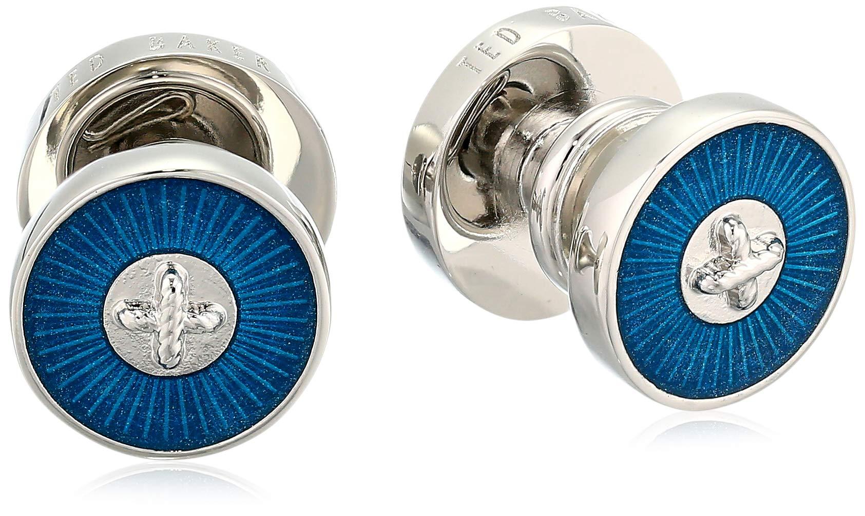 Ted Baker Men's PULA Cufflinks, teal/blue O/S