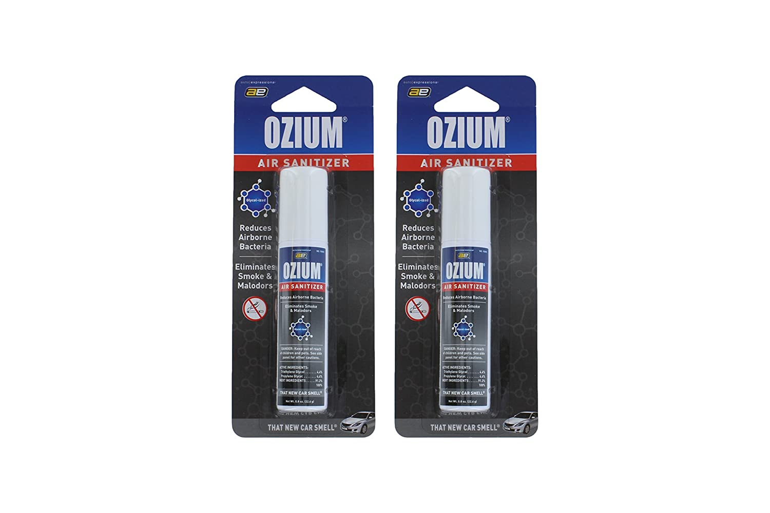 New Car Ozium - 0.8 Ounce - 2 Pack Kraco aeNew Car2pk