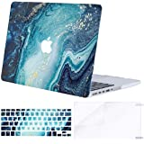 MOSISO MacBook Pro 15 inch Case (A1398, 2015 - end 2012 Release), Plastic Creative Wave Marble Hard Shell&Keyboard Cover…