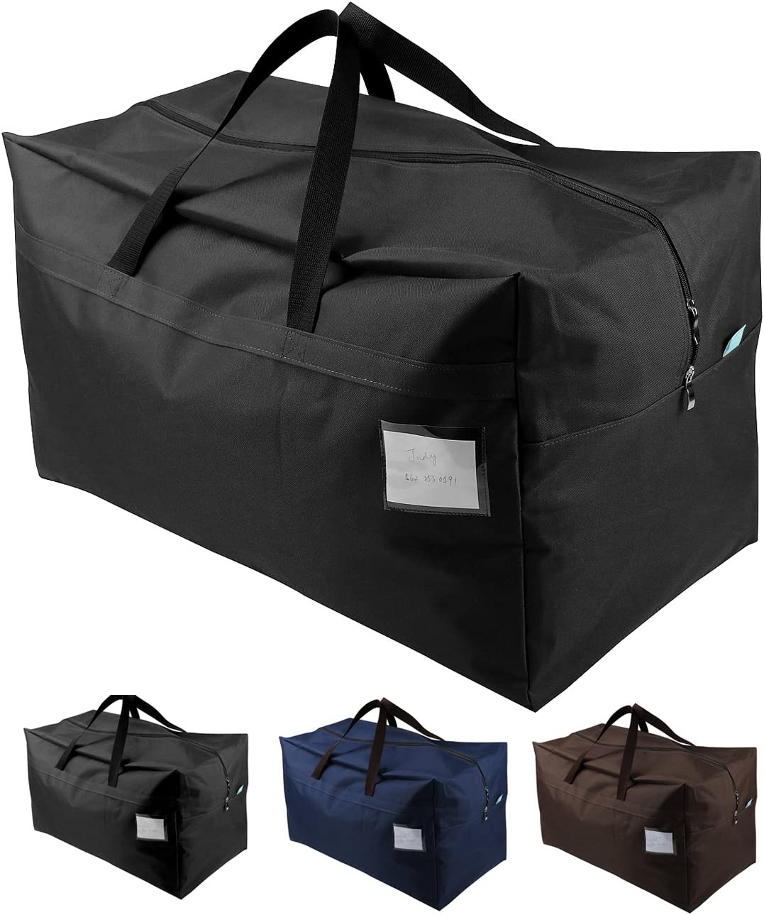 iwill CREATE PRO 70*42*35cm Waterproof Over-sized Christmas, Festival Decorations Organizer Storage Bag, Travel Duffel Bag, Back to School Carry Bag, Washable, Black