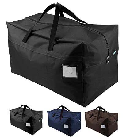 18ce5a29edfbb9 Amazon.com: iwill CREATE PRO 100L Extra Large Moving Tote Bag, Large Zip  Shopping Bag, Compatible with IKEA Frakta Carts, Black: Home & Kitchen