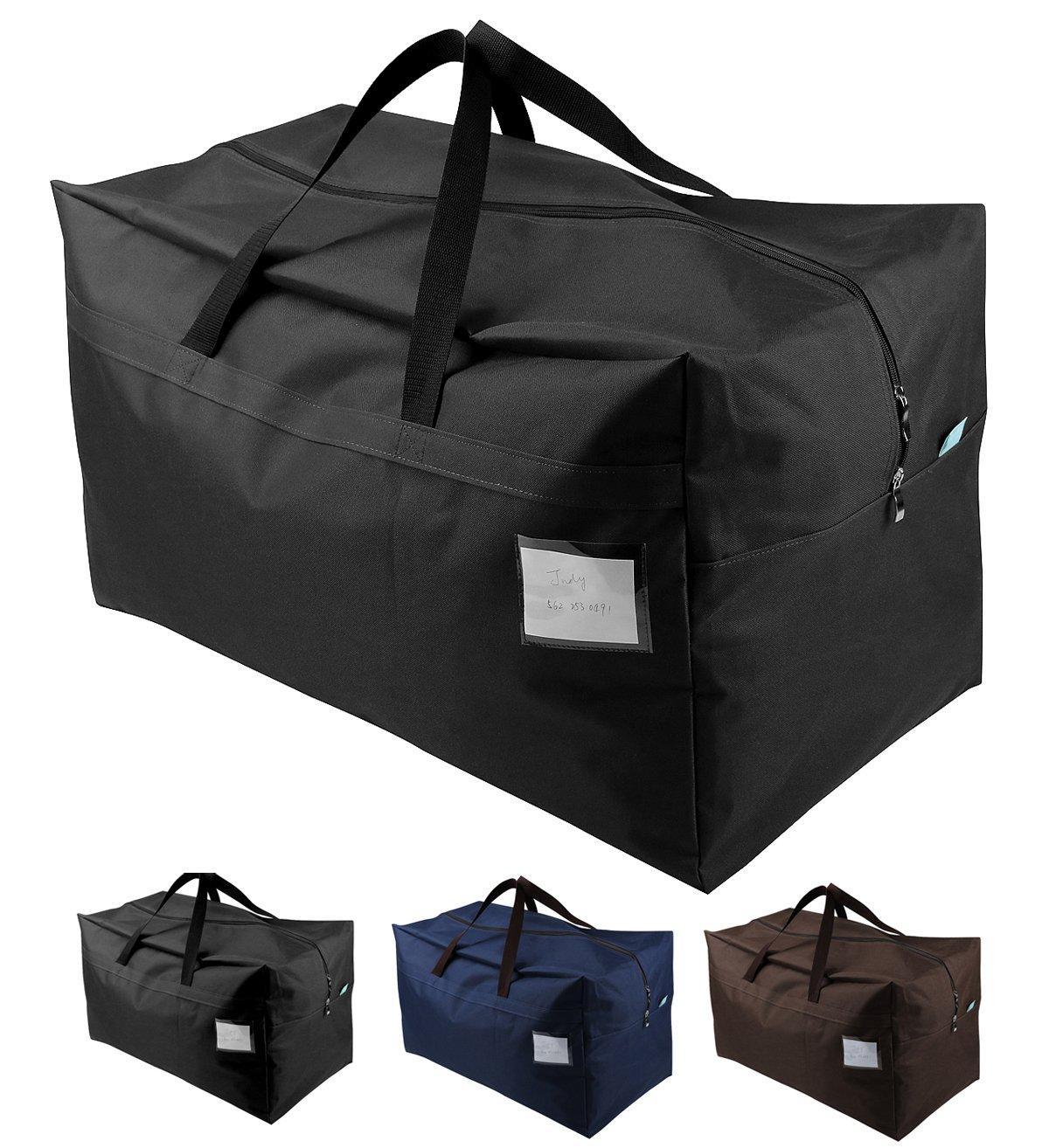 iwill CREATE PRO 100L Waterproof Seasonal Comforters Storage Bags Garage/Attic/Shelves, Black by iwill CREATE PRO