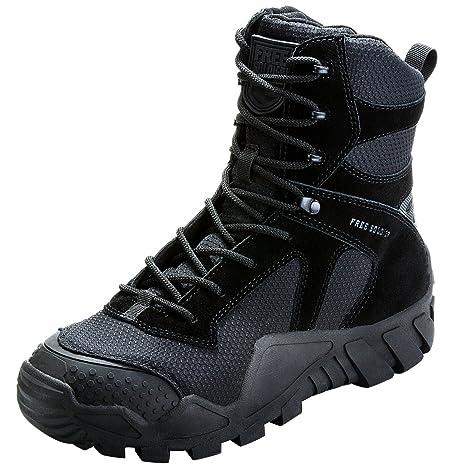 FREE SOLDIER uomo militare high-top scarpe da escursionismo stivali con lacci lavoro di combattimento tattico…