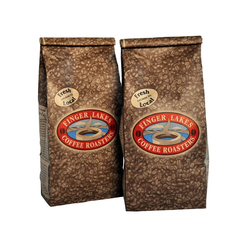 Finger Lakes Coffee Roasters, Amaretto Decaf Coffee, Whole Bean, 16-ounce bags (pack of two) by Finger Lakes Coffee Roasters