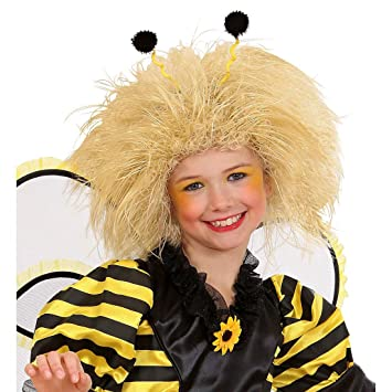 Peluca rubia de abeja para niño carnval postizo infantil cumpleaños accesorios traje