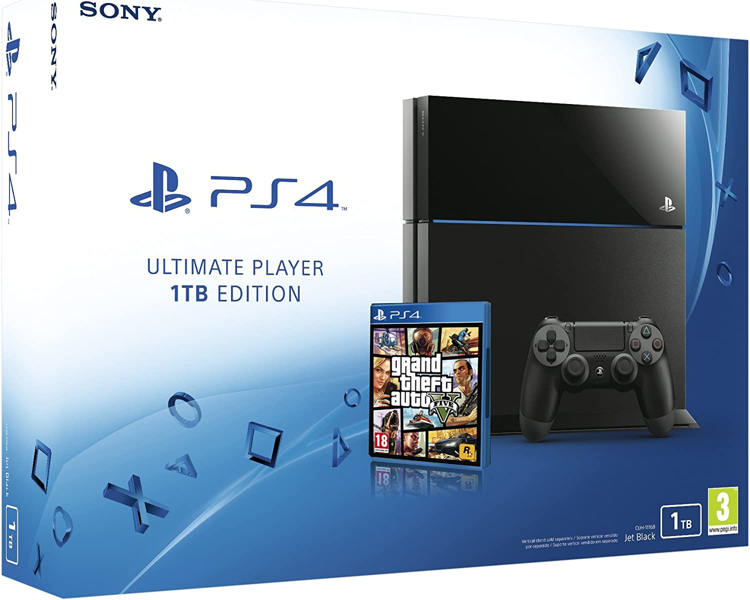 PlayStation 4 - Consola 1 TB + Grand Theft Auto V: Amazon.es: Videojuegos