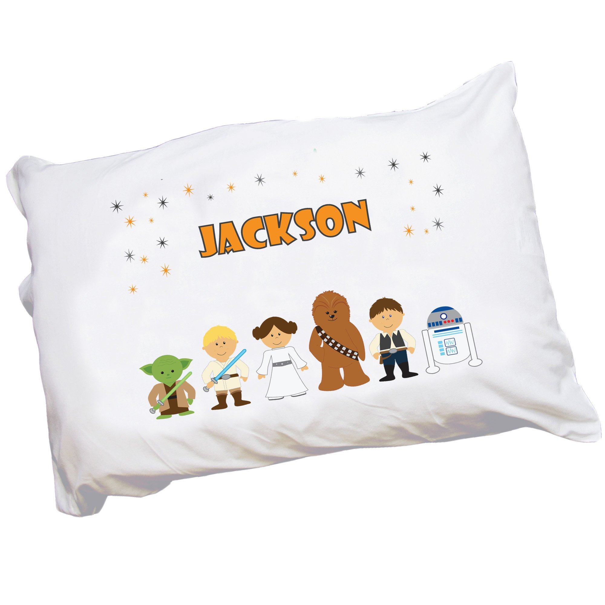 Personalized Childrens Pillowcase with Galaxy Friends design