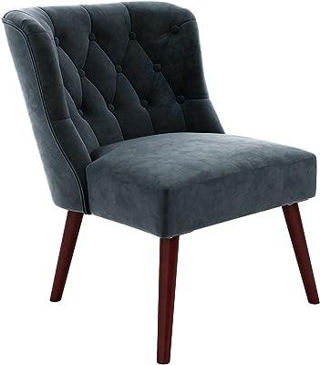 Novogratz Vintage Tufted Accent Chair - Blue Velvet