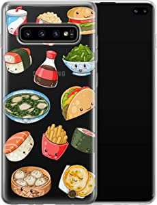 Vonna Phone Case Replacement for Samsung Galaxy S21 S20 Plus S10 Note 20 Ultra 5G S9 S8 Sushi Soft Cute Kawaii Cover Girl Junk Slim fit Taco French Smooth Print Fast Design Flexible Food Fries a642