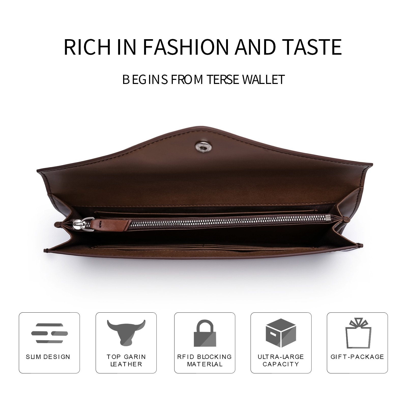 TERSE Clutch Bag for Men Italy Cowhide 100% handmade Messenger bag by TERSE (Image #2)