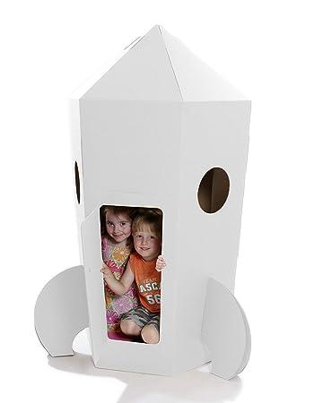 Kid Eco Paperpod Pappe Rocket Weiß Amazonde Spielzeug