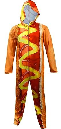 Unisex Hot Dog Hooded Onesie Pajama