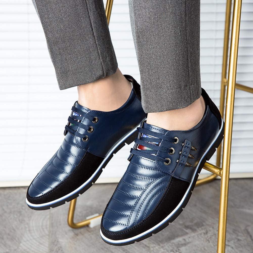 Fait Main Homme Authentique En Cuir Bleu Oxford Lacets Chaussures US468