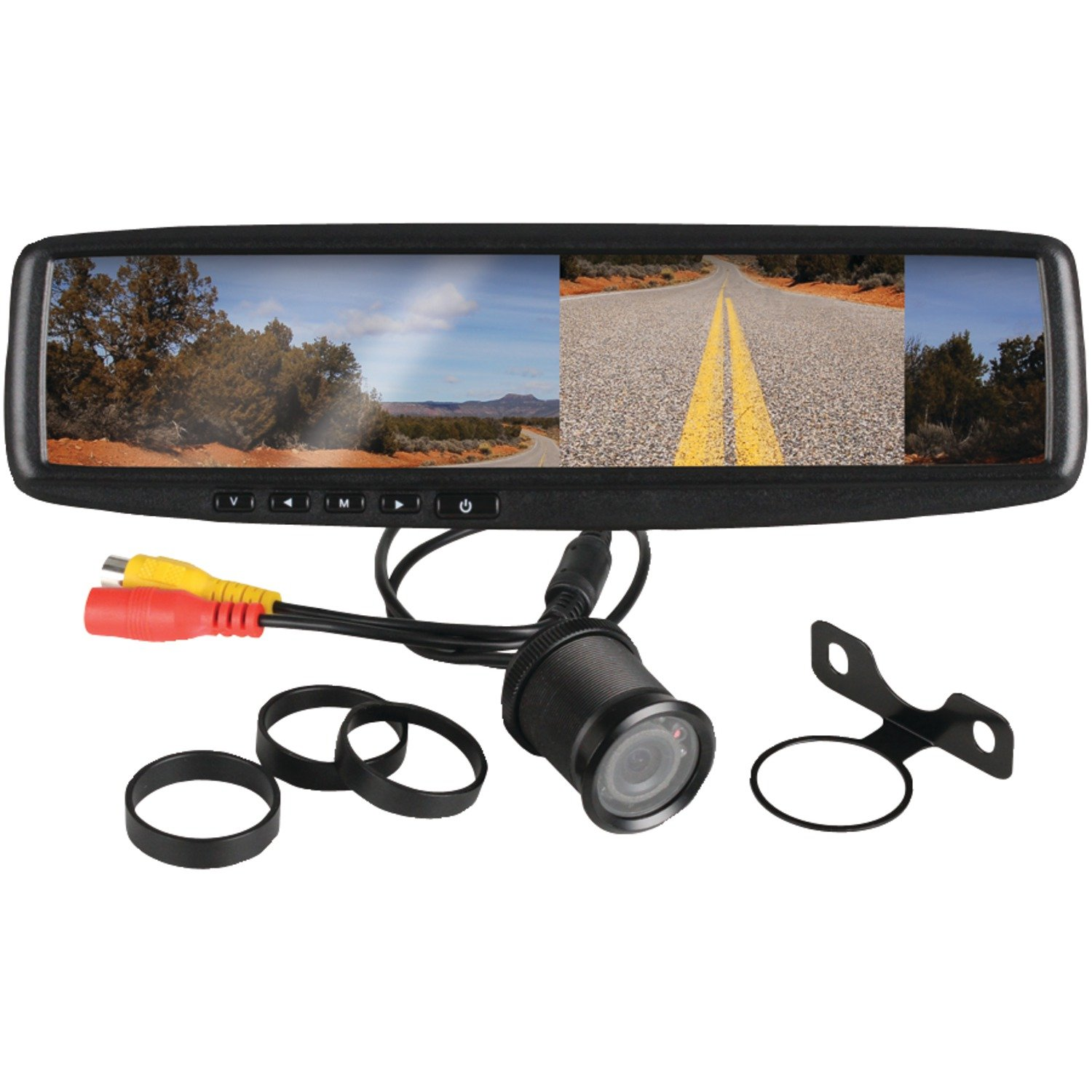 7105D%2BKuYoL._SL1500_ amazon com boss audio bv430rvm rear view car mirror with 4 3 inch Koolertron Backup Camera Installation Diagram at gsmx.co