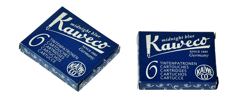 Kaweco 6 Cartucce d'Inchiostro corto, blu/nera 10000258