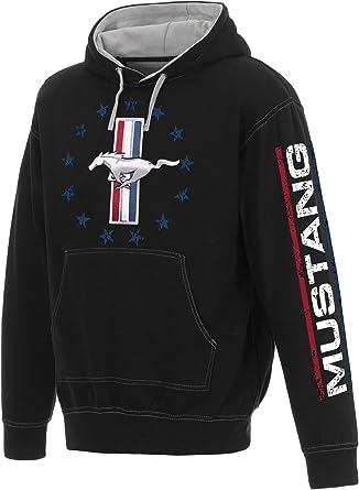 JH DESIGN GROUP Mens Ford Mustang Pullover Hoodie USA Logo Sweatshirt