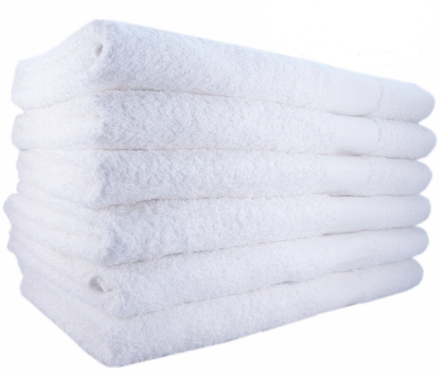 MIMAATEX Bath Towels 6 Pack-White 100% Cotton 24x50 Inch Bath Towels