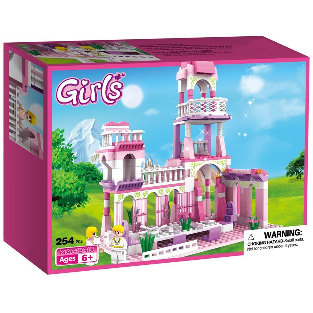 Webby Girl's Princess Castle Royal Feast Kids Toys Bricks