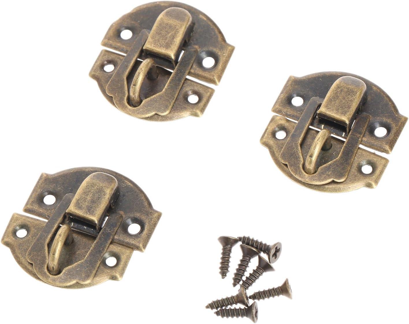10pi/èces Fermetures vintage Loquet Serrure Fermoir Verrous vintage gaufrage Moraillon de 27 x 29mm pour des des bo/îtes /à bijoux etc.