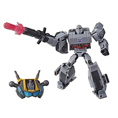 Transformers Toys Cyberverse Deluxe Class Megatron Action Figure, Fusion Mega Shot Attack Move and Build-A-Figure Piece, for Kids Ages 6 and Up, 5-inch: Toys & Games