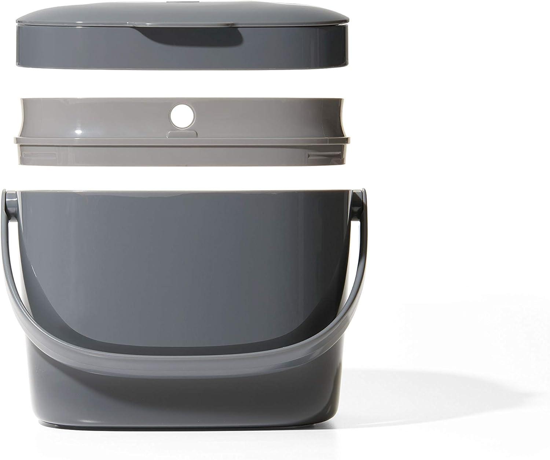 Grau Plastik OXO Good Grips K/üchenabfalleimer Komposteimer