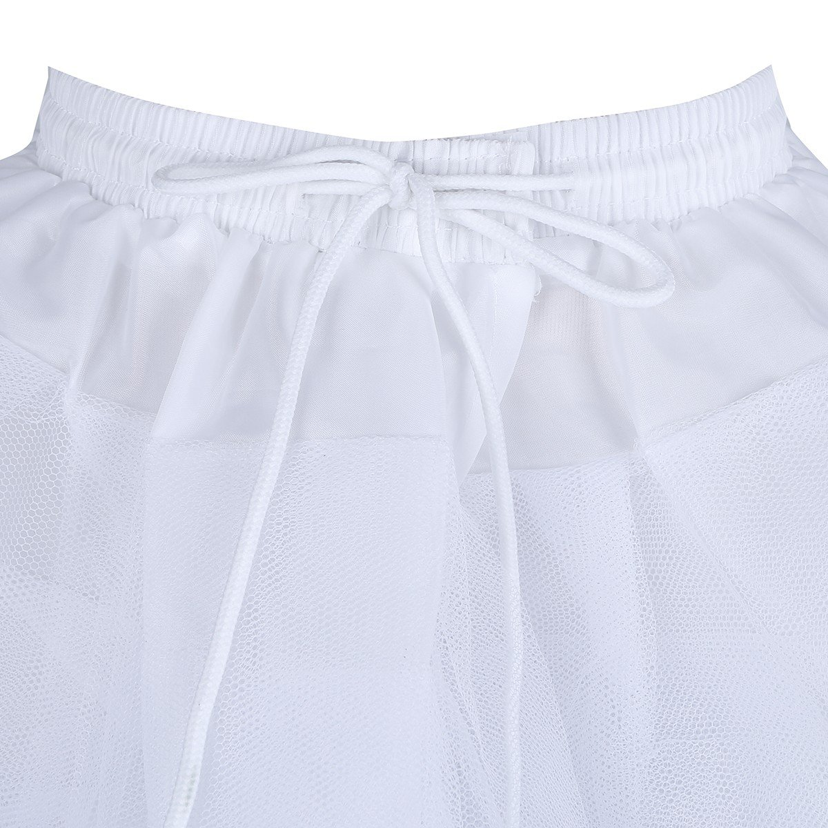 TiaoBug Kids Flower Girls 3 Layers Net Pageant Evening Wedding Dress Underskirt Crinoline Slip Bridesmaid Skirt Petticoat