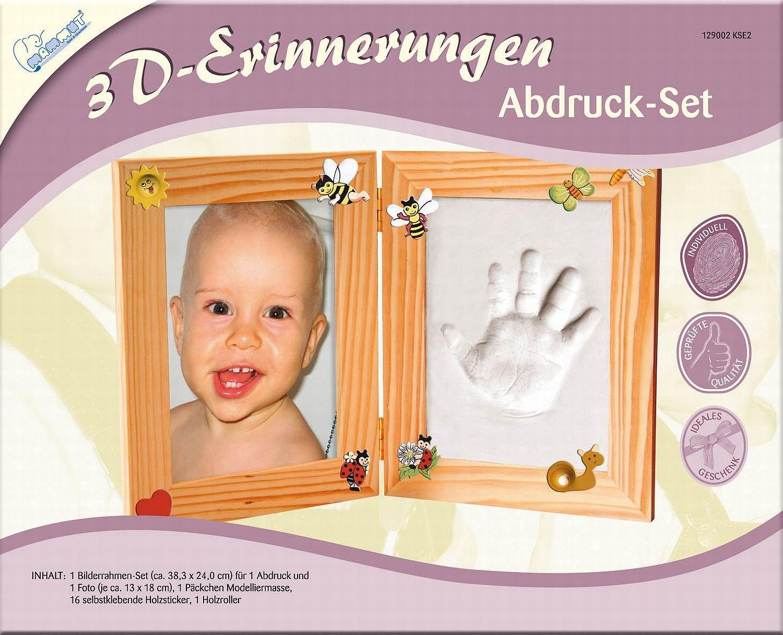 Mammut 129002-3D Erinnerungen-Abdruckset Bilderrahmen, ca. 38,3 x 24 ...