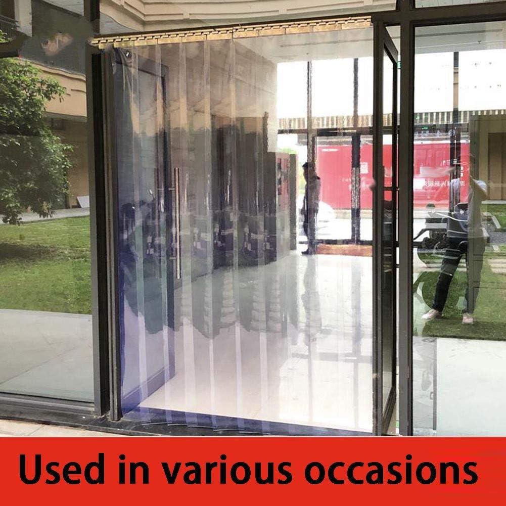 LJIANW Cortina para Puerta Tiras PVC Blando Cortina De Plástico Congelador Riel Colgante Resistencia Al Calor Frío A Prueba De Viento, 26 Tamaños (Color : Claro, Size : 10pcs 1.5X 2.3m): Amazon.es: Hogar