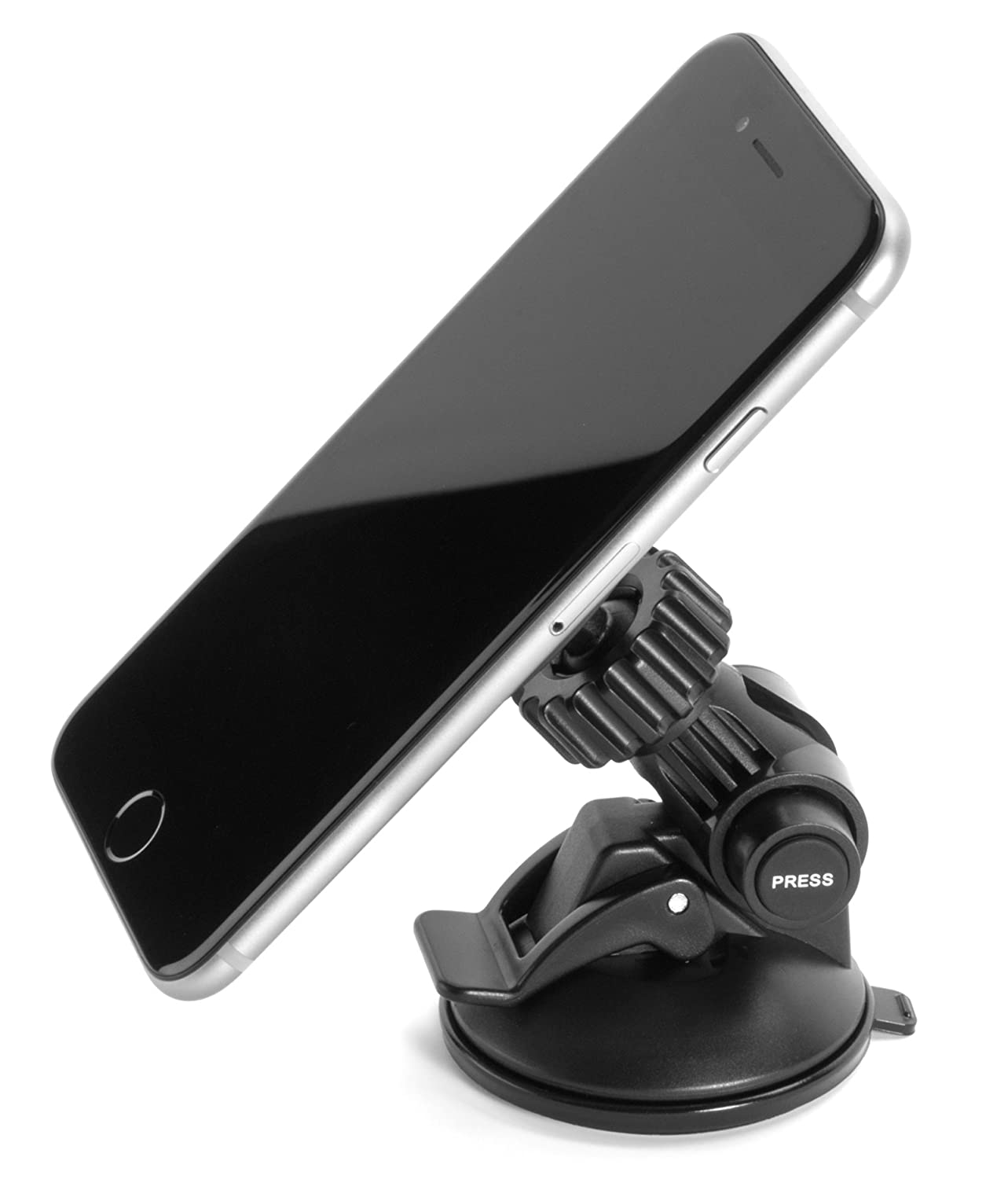 iPad // iPad 2 // iPad Air Galaxy S6//5//S4//S3 Nexus 5//4 5s // 5c iPad mini 4s LG G3//2 BCM-101 Dashboard and Windshield Car Mount for iPhone 6 // 6+ Note 4//3//2 Bovee Universal Smartphone and Tablet Car Mount for Any Device Any Size