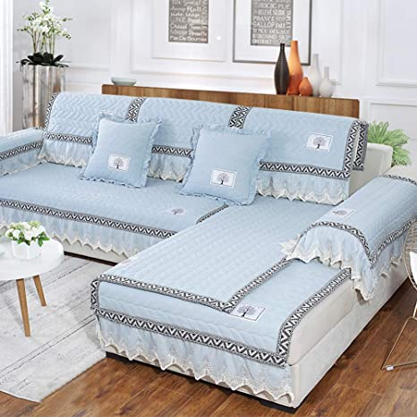SANDM Fabric Non Slip Sofa Cushioning, Vintage Lace Couch Cover Sofa Cover  Sofa Towel