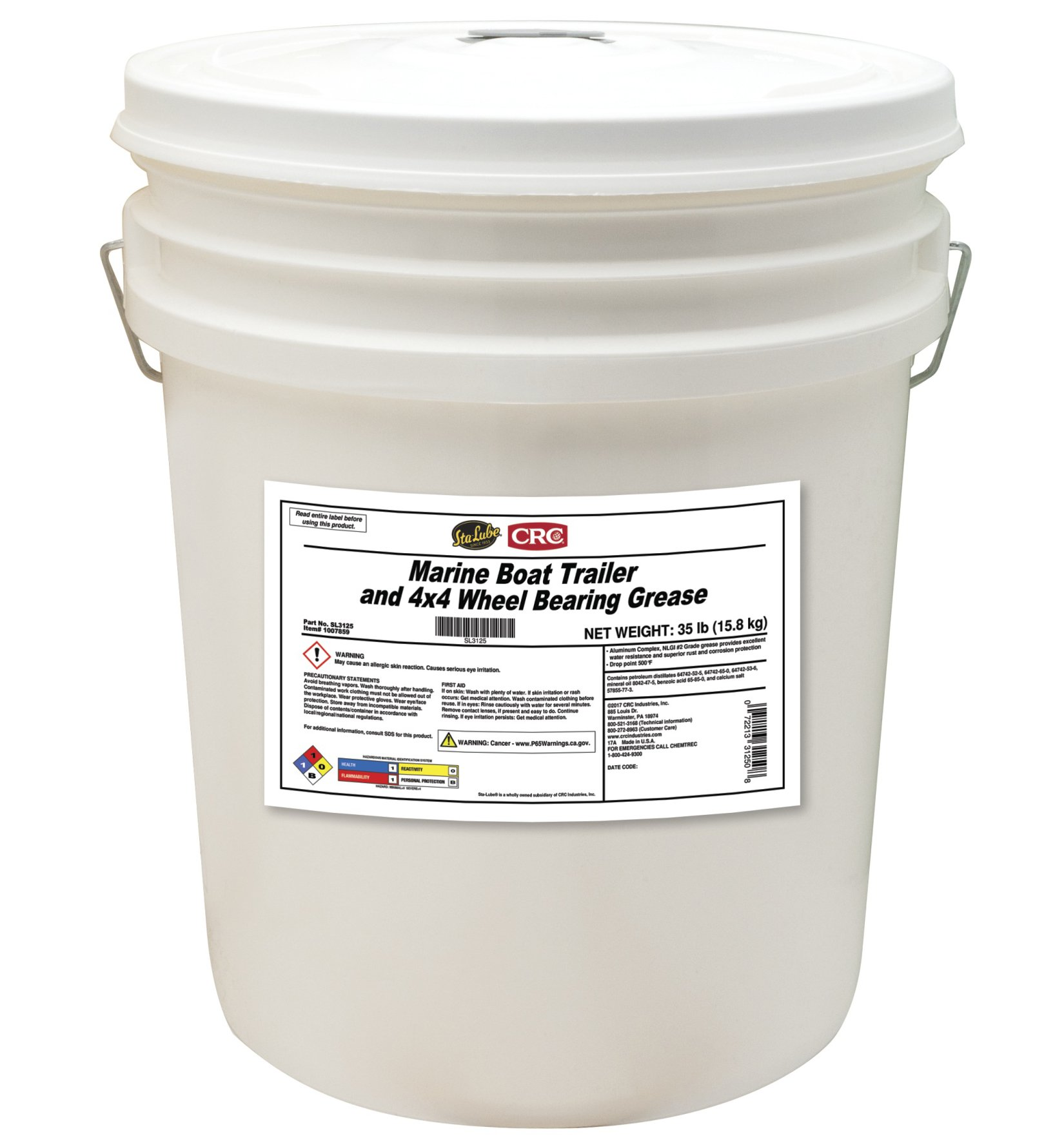Sta-Lube SL3125 Marine Boat Trailer and 4X4 Wheel Bearing Grease, 35. Fluid_Ounces by Sta-Lube