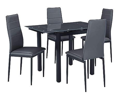 AVANTI TRENDSTORE - Malta - Set con tavolo e 4 sedie per cucina o ...