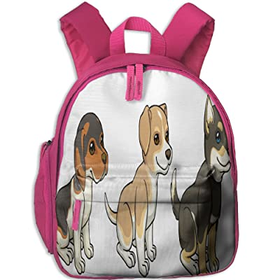 Billet-doux Three Dogs Book Bag Cute Cartoon Kid's School Daypack Camp Boy Kindergarten Backpacks hot sale