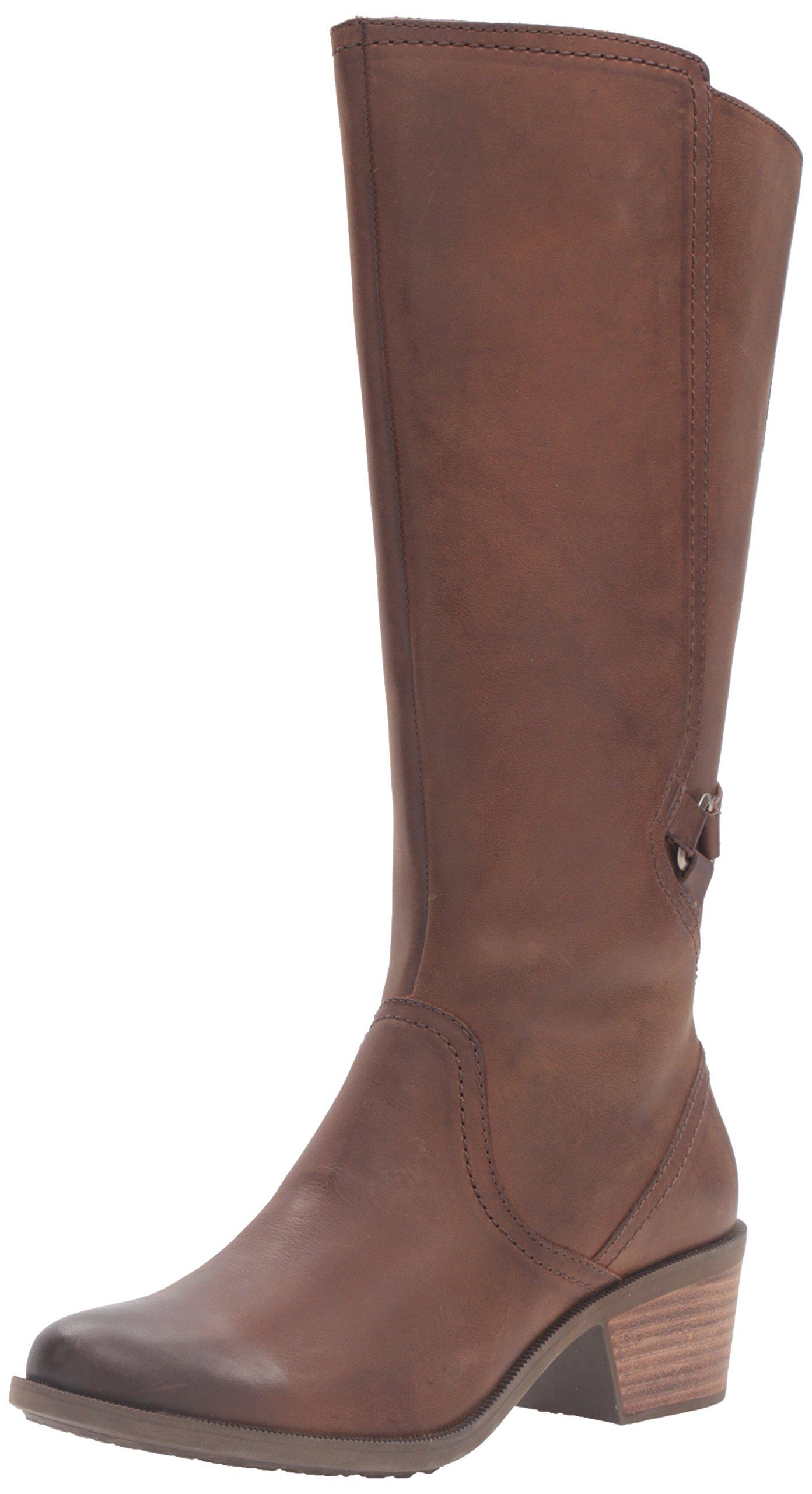 Teva Women's W Foxy Tall Leather Boot,Brown,7.5 M US