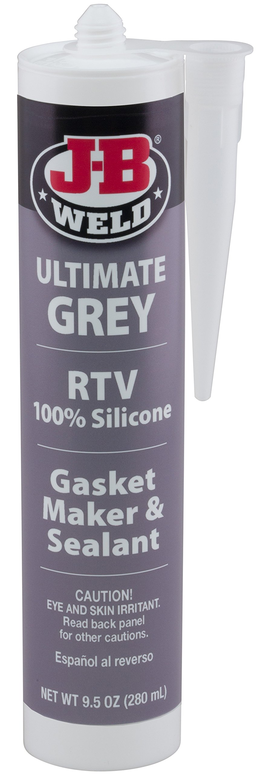 J-B Weld 32927 Ultimate Grey RTV Silicone Gasket Maker and Sealant - 9.5 oz.
