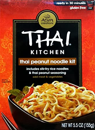 amazon com thai kitchen thai peanut noodle kit 5 5 ounces pack rh amazon com