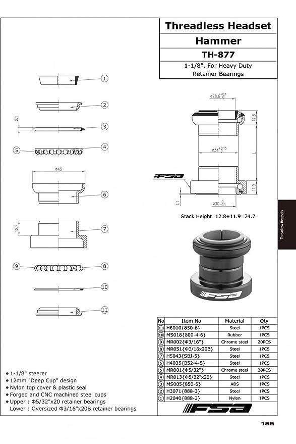 a92750e3d8389 FSA Hammer 1-1/8