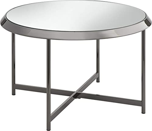 Target Marketing Systems Carly Modern Living Room Round Glass Coffee Table