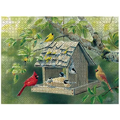 Limsea Birds Puzzles 1000 Pieces for Kids and Adults Paintings Landscape Jigsaw Puzzle Game Learning Educational Toys: Sports & Outdoors